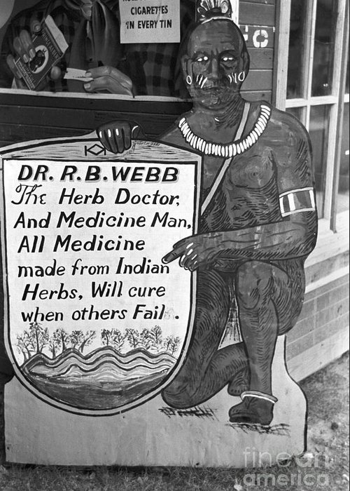 1938 Greeting Card featuring the photograph Medicine Man, 1938 by Granger