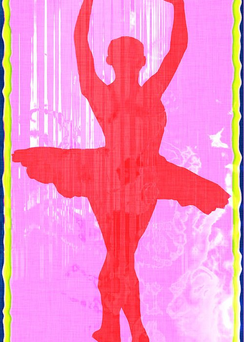 Ballet Dancer Ballerina Dancers Performer Performance Dancing Arts Dance Abstract Art Paul Greeting Card featuring the photograph Ballet Dancer by David G Paul