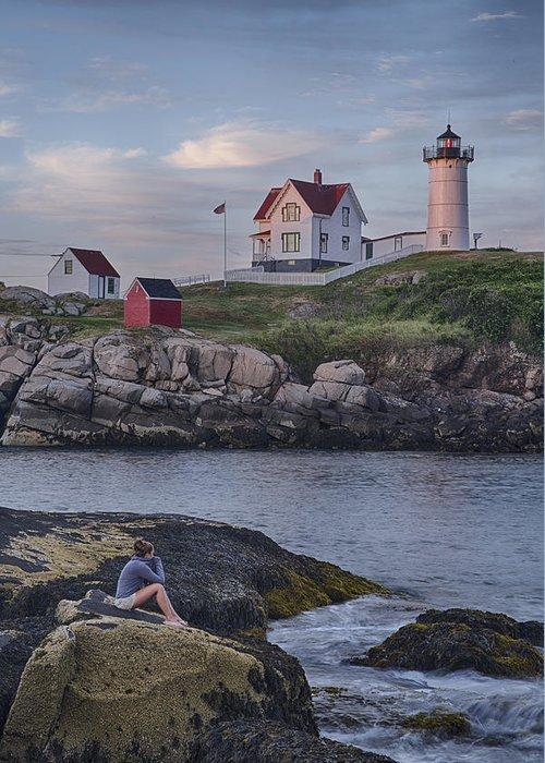 Cape Neddick Lighthouse Greeting Card featuring the photograph Cape Neddick Lighthouse by David DesRochers