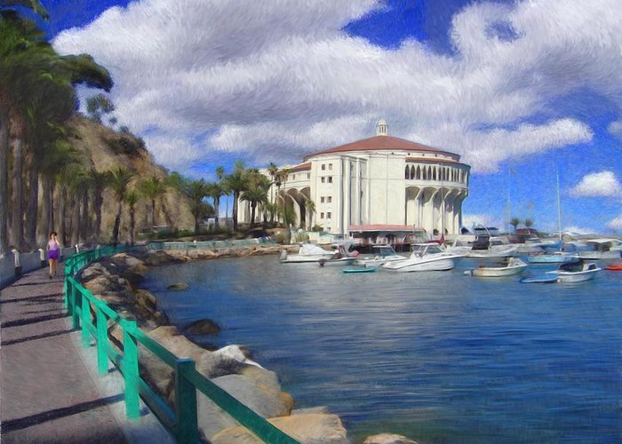 Catalina Greeting Card featuring the digital art Casino Runner by Snake Jagger