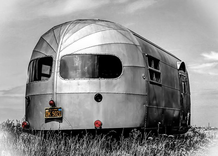 Airstream Greeting Card featuring the photograph Classic Airstream Caravan by Ian Hufton