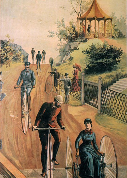 1885 Greeting Card featuring the photograph Columbia Bicycles Poster by Granger