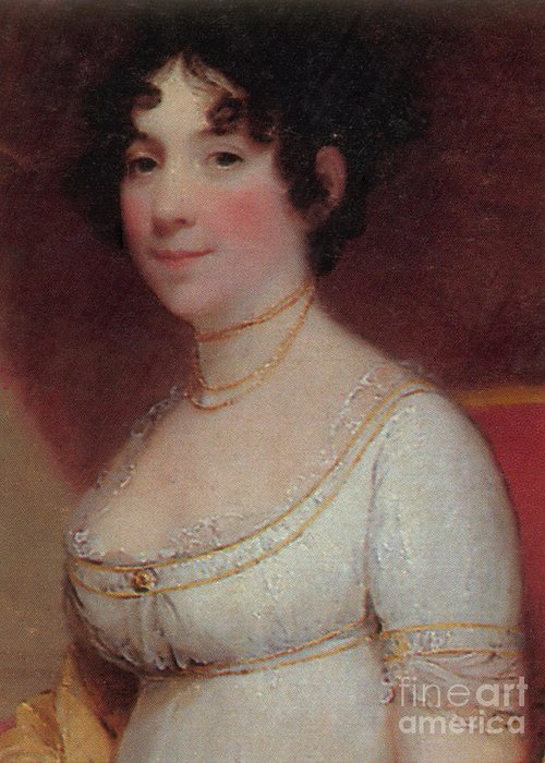Dolley Payne Todd Madison Greeting Card featuring the photograph Dolley Madison by Photo Researchers
