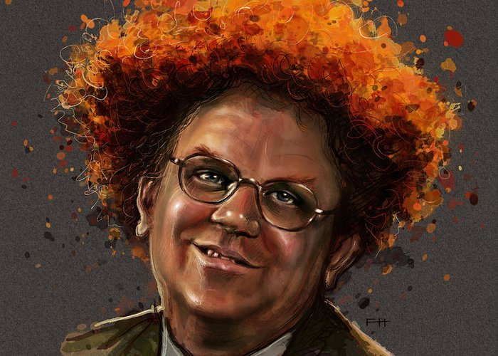 Dr. Steve Brule Greeting Card featuring the painting Dr. Steve Brule by Fay Helfer