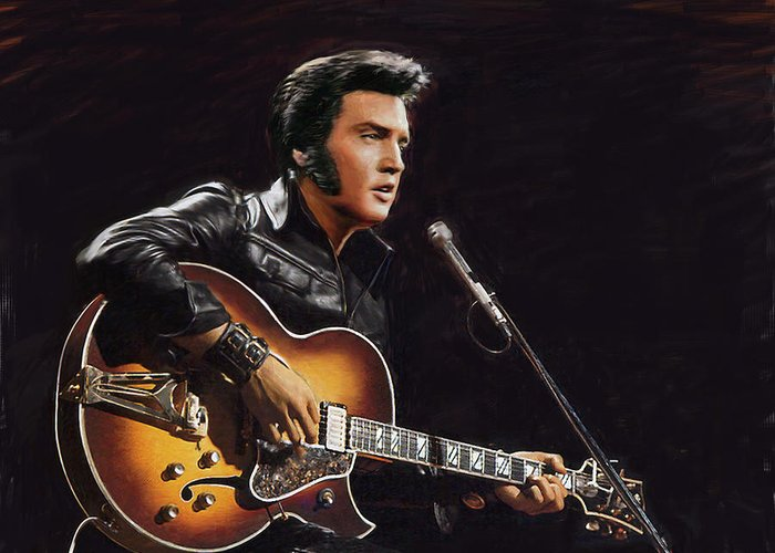 elvis presley greeting card for sale by dominique amendola, Greeting card