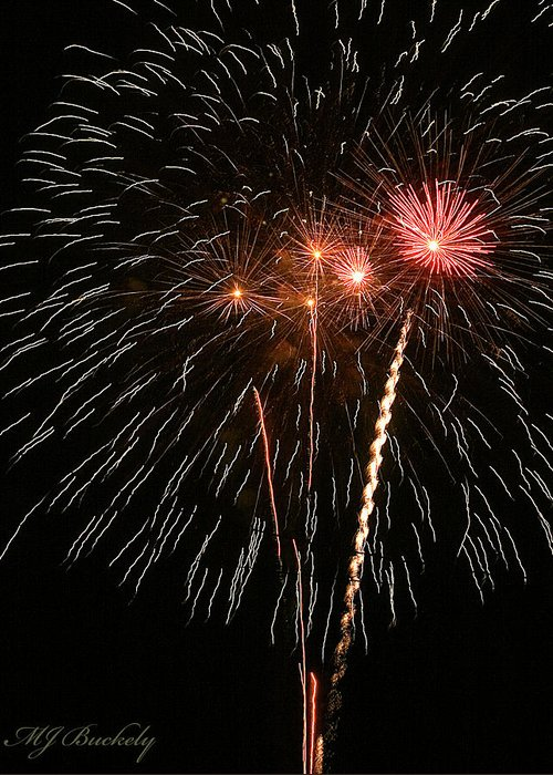 Fireworks Greeting Card featuring the photograph Fireworks by Marti Buckely