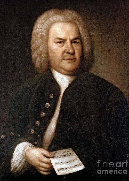 Art Greeting Card featuring the photograph Johann Sebastian Bach, German Baroque by Photo Researchers