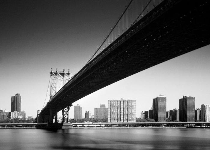 Ny Greeting Card featuring the photograph Manhattan Bridge by Nina Papiorek