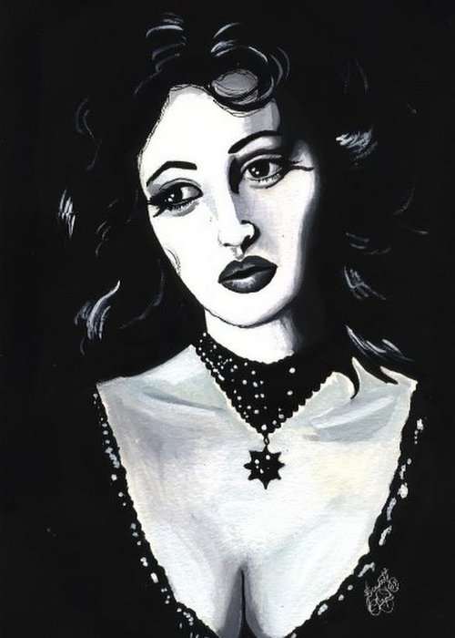 Monica Greeting Card featuring the painting Monica by Scarlett Royal