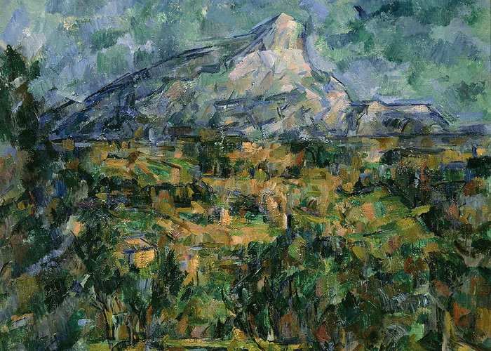 Mont Greeting Card featuring the painting Mont Sainte Victoire by Paul Cezanne