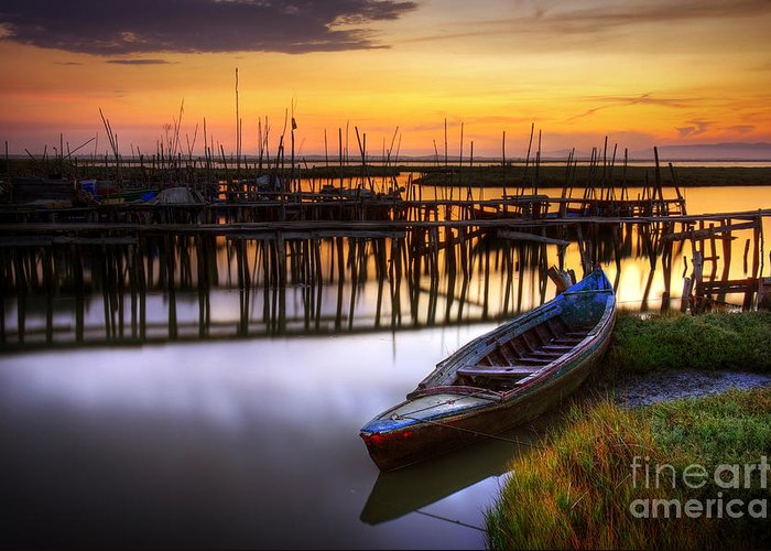 Bay Greeting Card featuring the photograph Palaffite Port by Carlos Caetano