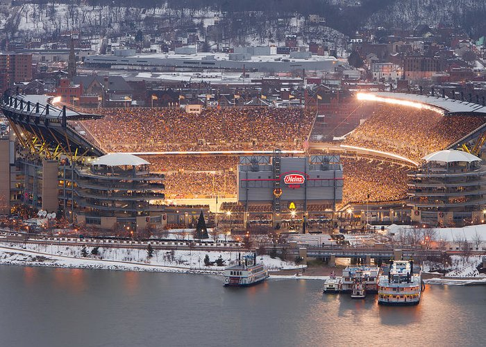 Steelers Greeting Card featuring the photograph Pittsburgh 4 by Emmanuel Panagiotakis
