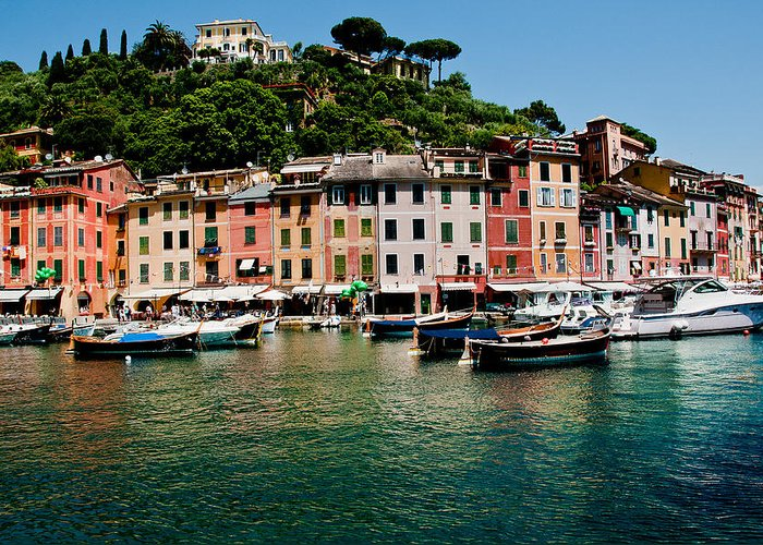 Ligurian Greeting Card featuring the photograph Portofino Italy by Xavier Cardell