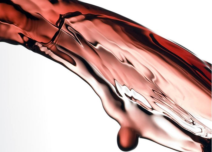 Red Greeting Card featuring the photograph Red Wine by Frank Tschakert