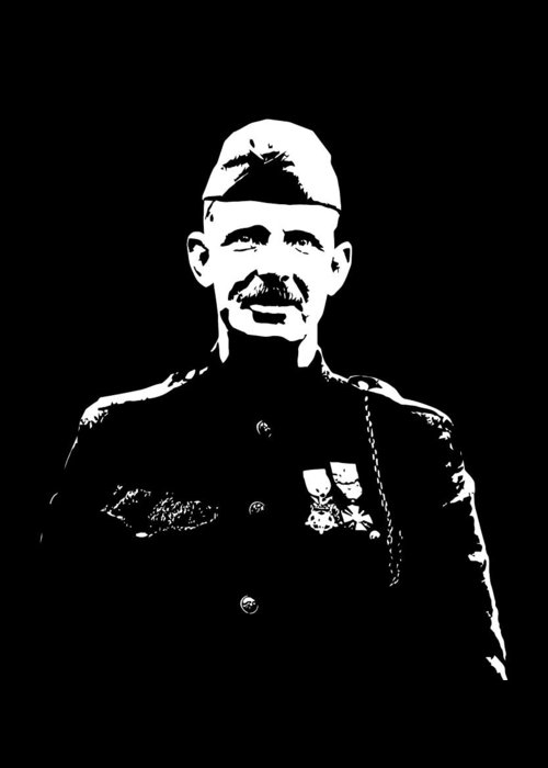 Sergeant York Greeting Card featuring the digital art Sergeant Alvin York by War Is Hell Store