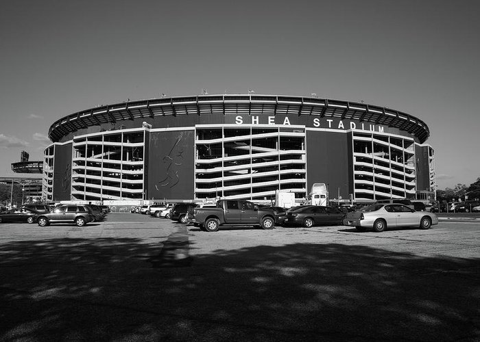 Landmark Greeting Card featuring the photograph Shea Stadium - New York Mets by Frank Romeo
