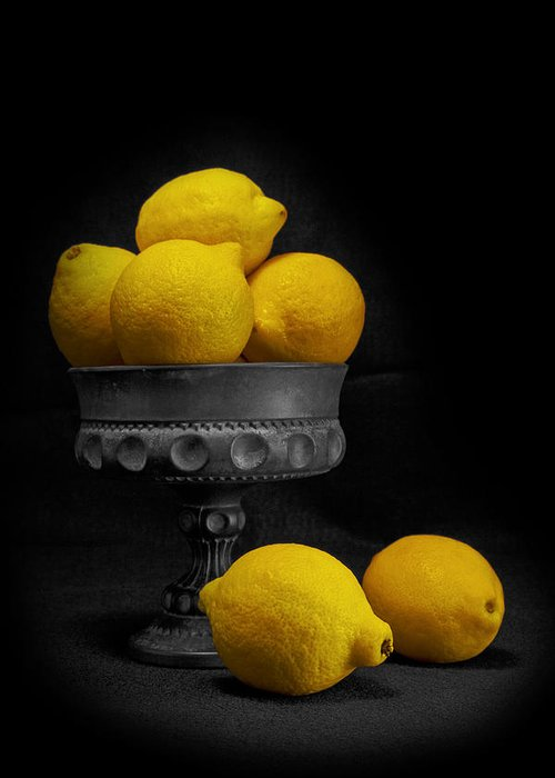 Bowl Greeting Card featuring the photograph Still Life With Lemons by Tom Mc Nemar
