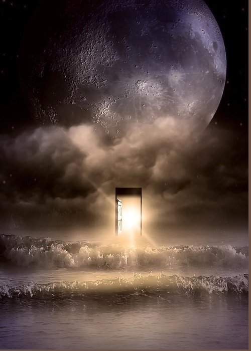 Blue Moon Greeting Card featuring the photograph The Door by Svetlana Sewell