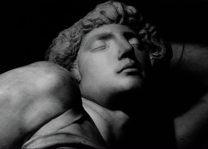 The Dying Slave Greeting Card featuring the photograph The Dying Slave by Michelangelo Buonarroti