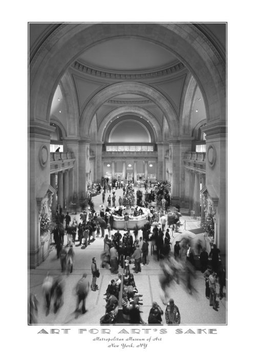 Metropolitan Greeting Card featuring the photograph The Metropolitan Museum Of Art by Mike McGlothlen