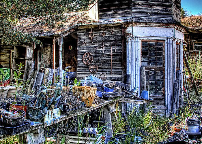 Shed Greeting Card featuring the photograph The Old Shed by David Patterson