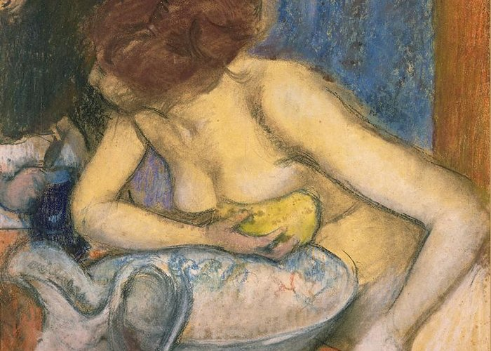 The Toilet Greeting Card featuring the pastel The Toilet by Edgar Degas