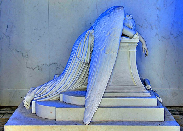 Weeping Angel Greeting Card featuring the photograph Weeping Angel by Ellis C Baldwin