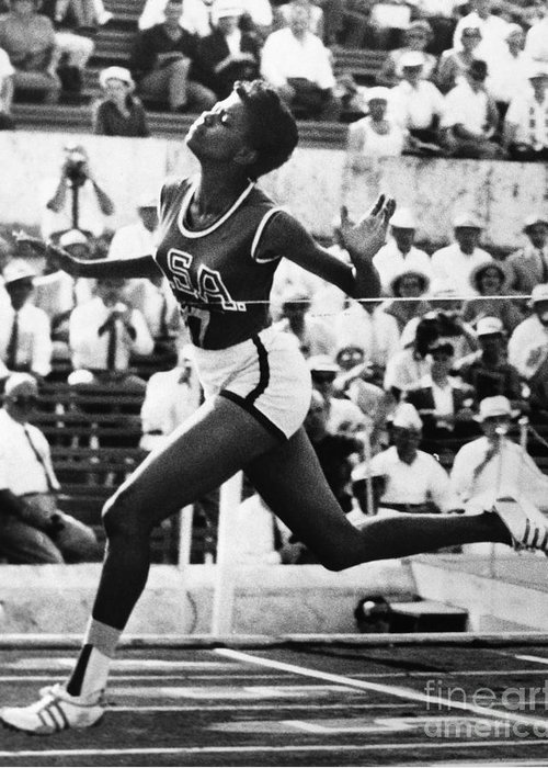 1960 Greeting Card featuring the photograph Wilma Rudolph (1940-1994) by Granger