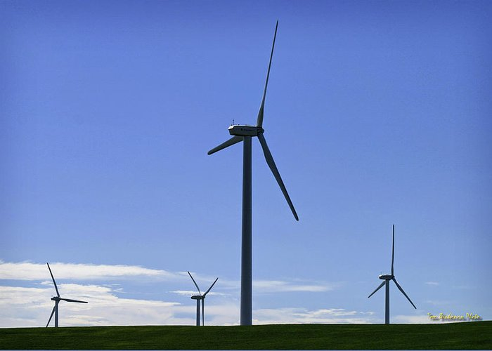 Wind Generators Greeting Card featuring the photograph Windy Power by Tom Buchanan