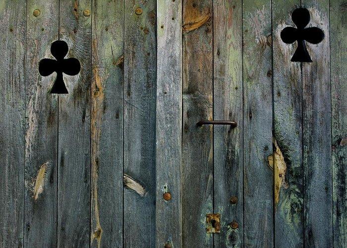 Aged Greeting Card featuring the photograph Wooden Door by Bernard Jaubert