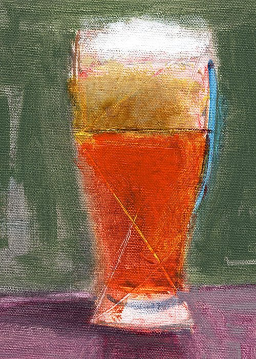 Beer Greeting Card featuring the painting Rcnpaintings.com by Chris N Rohrbach