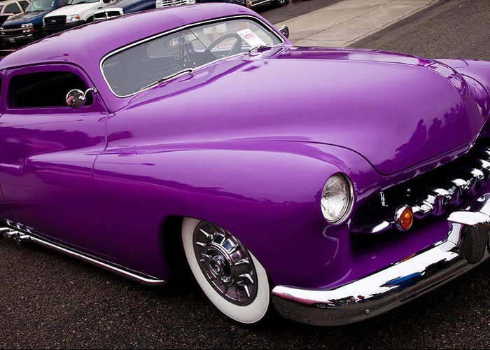 50 Greeting Card featuring the photograph 1950 Purple Mercury by David Patterson