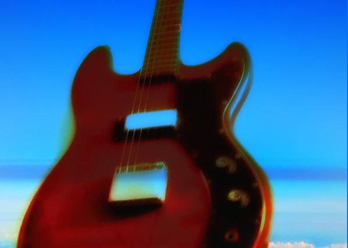 Guitar Greeting Card featuring the photograph 1963 Guild Jet Star by Bill Cannon