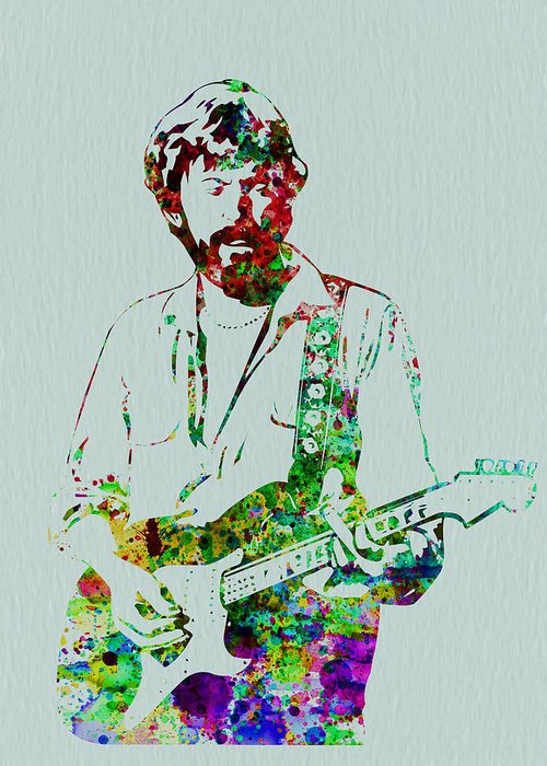 Greeting Card featuring the painting Eric Clapton by Naxart Studio
