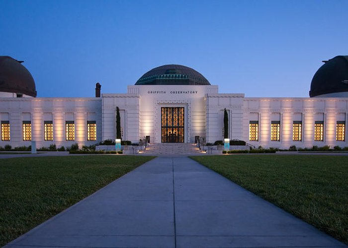 3scape Photos Greeting Card featuring the photograph Griffith Observatory by Adam Romanowicz
