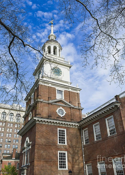 American Greeting Card featuring the photograph Independence Hall by John Greim