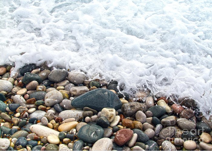 Ocean Stones Greeting Card featuring the photograph Ocean Stones by Stelios Kleanthous
