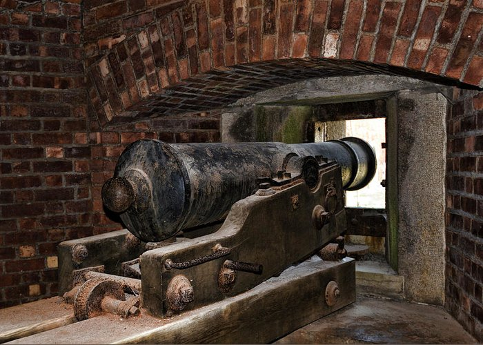 Old Fort Niagara Greeting Card featuring the photograph 24 Pounder Cannon by Peter Chilelli