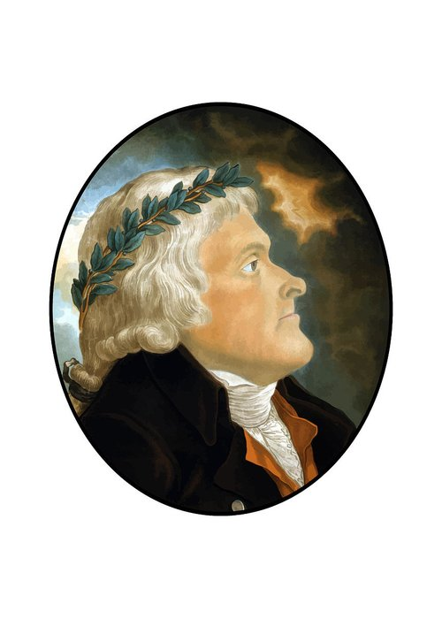 Thomas Jefferson Greeting Card featuring the painting President Thomas Jefferson by War Is Hell Store