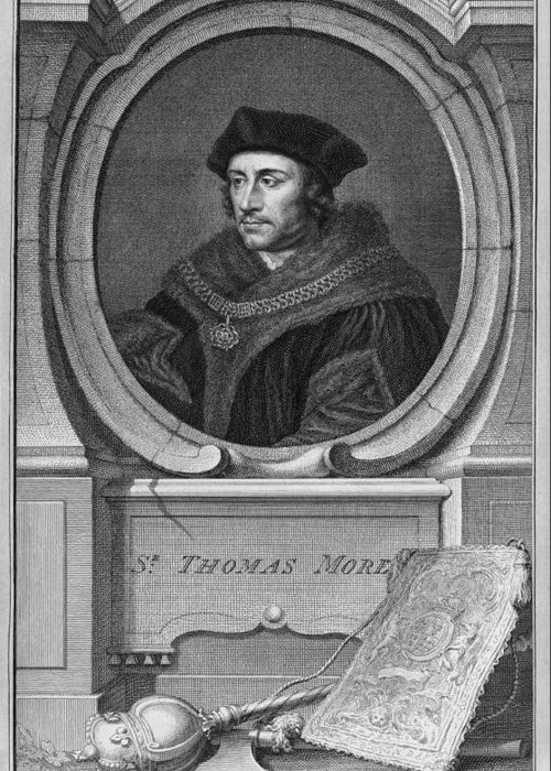 1500s Greeting Card featuring the photograph Sir Thomas More, English Statesman by Middle Temple Library