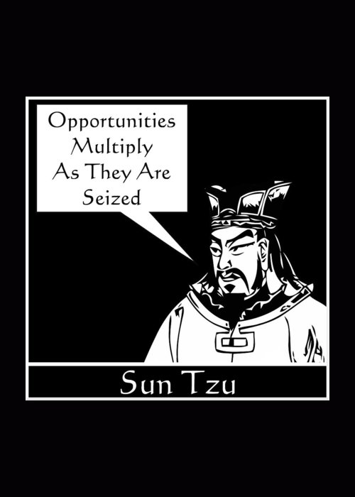 Sun Tzu Greeting Card featuring the digital art Sun Tzu by War Is Hell Store