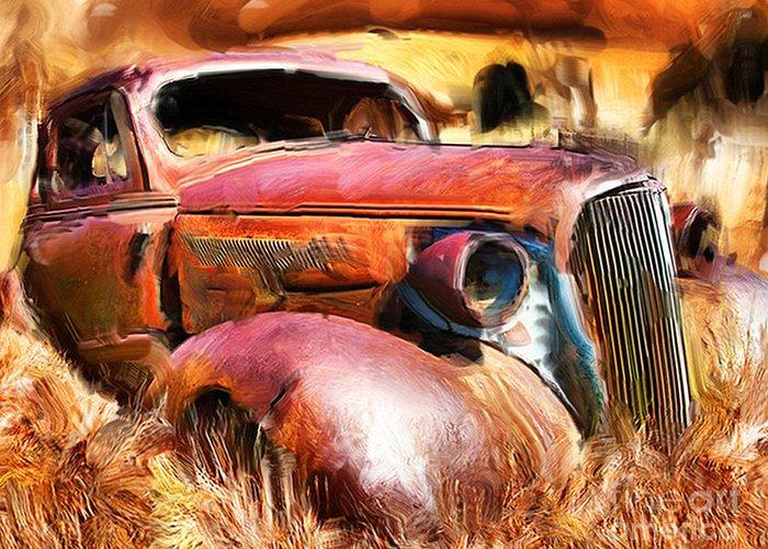Cars Greeting Card featuring the photograph 37 Chevy by Tom Griffithe
