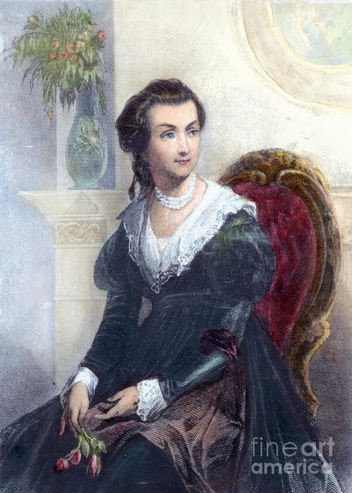 18th Century Greeting Card featuring the photograph Abigail Adams (1744-1818) by Granger