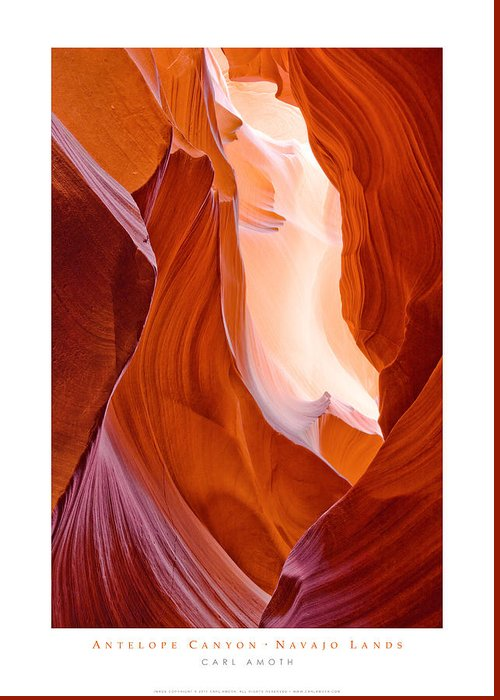 Antelope Canyon Greeting Card featuring the photograph Antelope Canyon by Carl Amoth
