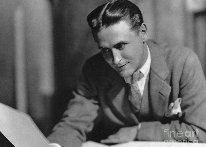 1925 Greeting Card featuring the photograph F. Scott Fitzgerald by Granger