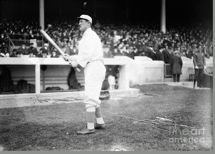 1913 Greeting Card featuring the photograph Jim Thorpe (1888-1953) by Granger
