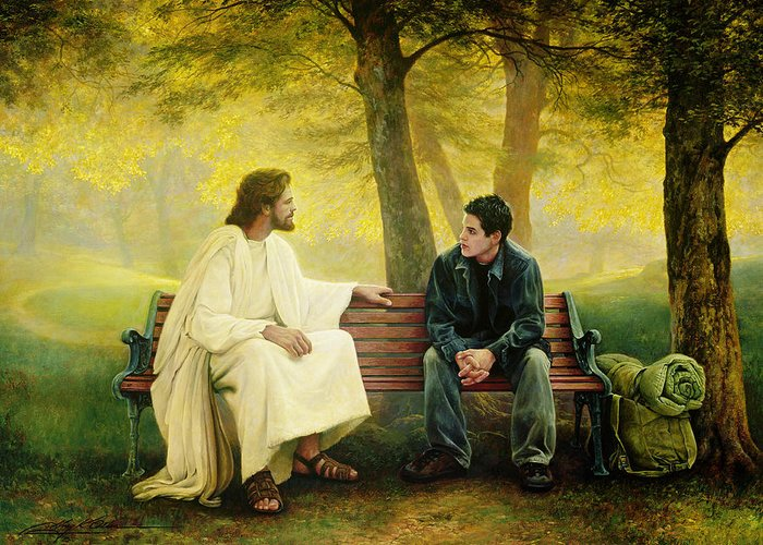 Jesus Greeting Card featuring the painting Lost And Found by Greg Olsen