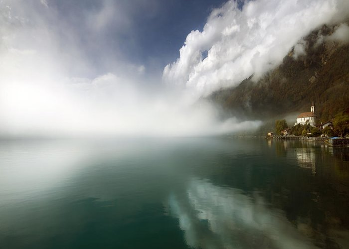 Greeting Card featuring the photograph Misty Morning by Angel Tarantella
