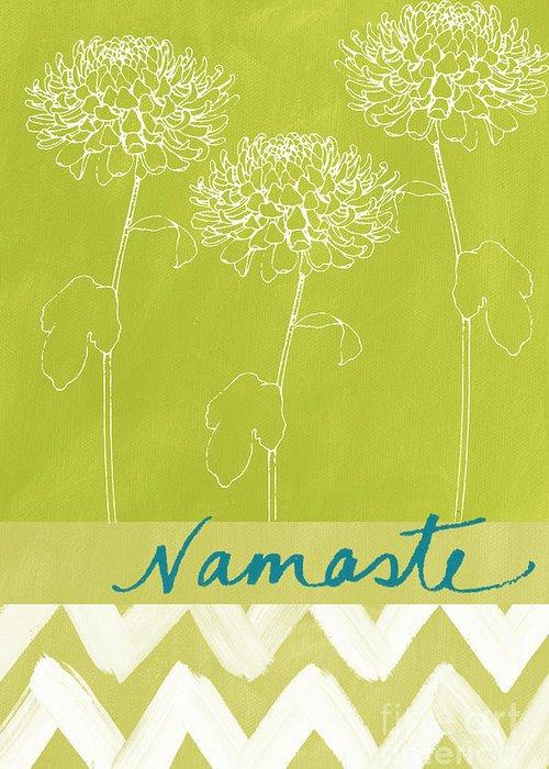 Namaste Greeting Card featuring the painting Namaste by Linda Woods