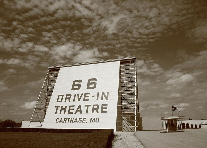 66 Greeting Card featuring the photograph Route 66 Drive-in Theatre by Frank Romeo